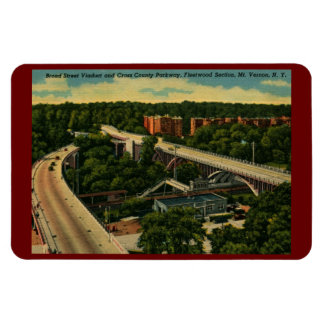 Broad St. Viaduct, Mt. Vernon NY Vintage Rectangular Photo Magnet