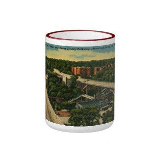 Broad St. Viaduct, Mt. Vernon NY Vintage Ringer Mug