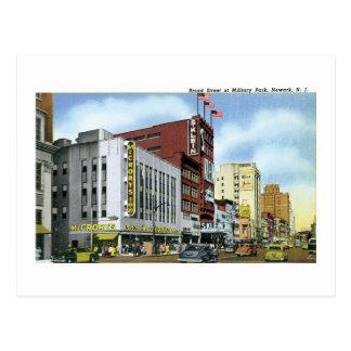Broad Street, Newark, NJ Postcard