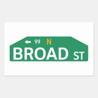 Broad Street, Philadelphia, PA Street Sign Rectangular Sticker