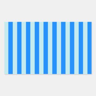 Broad Stripes - Blue 1 - Blizzard Blue and Azure Rectangular Sticker