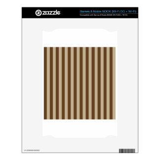 Broad Stripes - Brown 2 - Khaki and Dark Brown NOOK Decal
