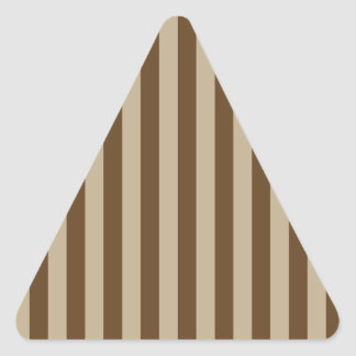 Broad Stripes - Brown 2 - Khaki and Dark Brown Triangle Sticker