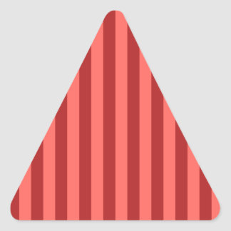 Broad Stripes - Pastel Red and Firebrick Triangle Sticker
