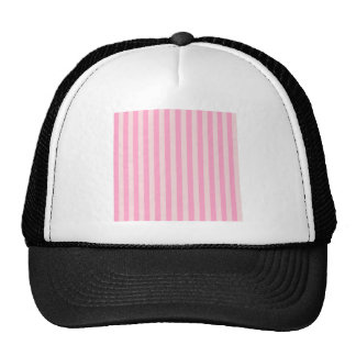 Broad Stripes - Pink 2 - Pale Pink and Carnation Trucker Hat