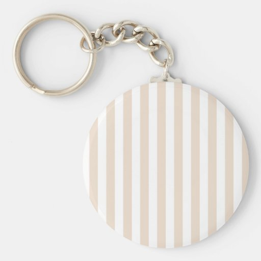 Broad Stripes - White and Almond Key Chain