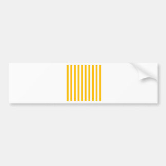 Broad Stripes - White and Amber Bumper Sticker