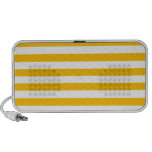Broad Stripes - White and Amber Mini Speakers