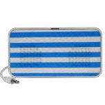Broad Stripes - White and Azure iPod Speaker