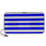 Broad Stripes - White and Blue iPod Speakers