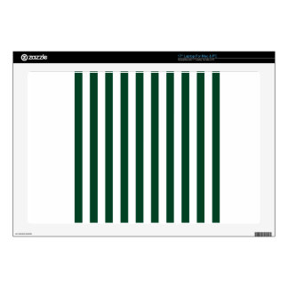 Broad Stripes - White and British Racing Green Skins For Laptops