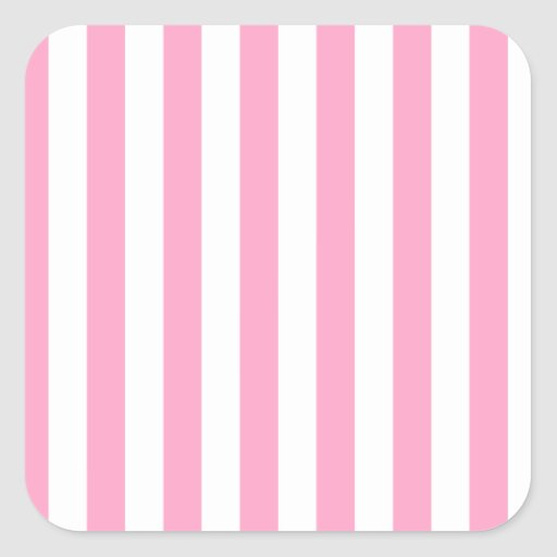 Broad Stripes - White and Carnation Pink Sticker