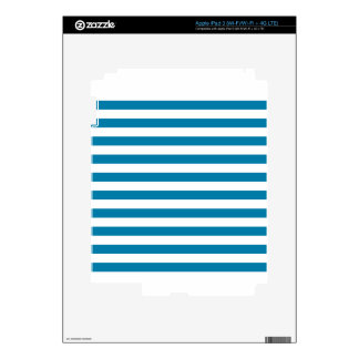 Broad Stripes - White and Celadon Blue iPad 3 Decals