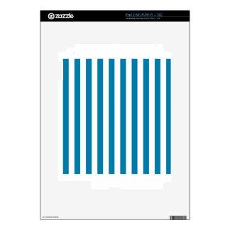 Broad Stripes - White and Celadon Blue iPad 2 Skin