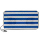 Broad Stripes - White and Cobalt Travelling Speakers