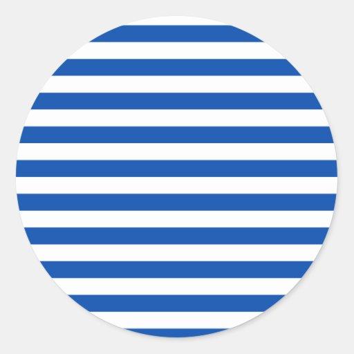 Broad Stripes - White and Cobalt Sticker