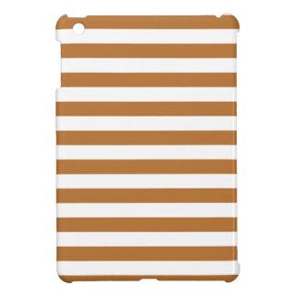 Broad Stripes - White and Copper Cover For The iPad Mini