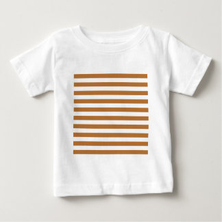 Broad Stripes - White and Copper T Shirts