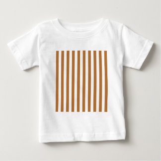Broad Stripes - White and Copper T-shirts