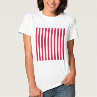 Broad Stripes - White and Crimson Shirt