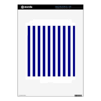 Broad Stripes - White and Dark Blue iPad 2 Skin