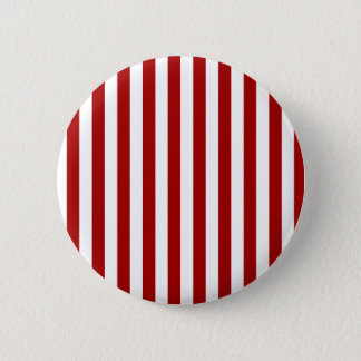 Broad Stripes - White and Dark Candy Apple Red Button