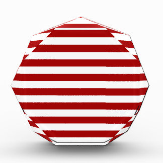 Broad Stripes - White and Dark Candy Apple Red Awards