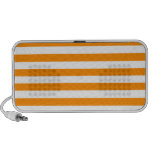 Broad Stripes - White and Dark Orange Speakers