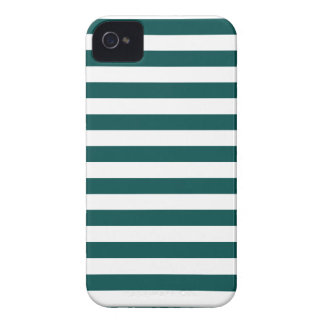 Broad Stripes - White and Deep Jungle Green iPhone 4 Covers