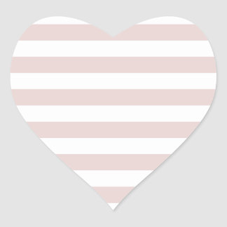 Broad Stripes - White and Dust Storm Heart Sticker