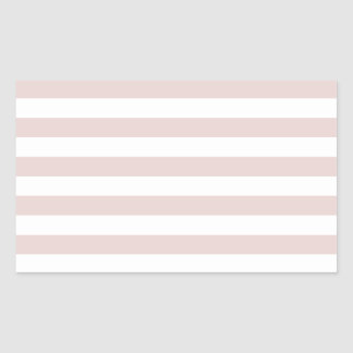 Broad Stripes - White and Dust Storm Rectangular Sticker