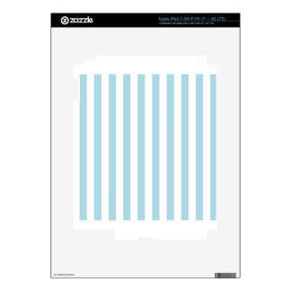 Broad Stripes - White and Light Blue iPad 3 Decal