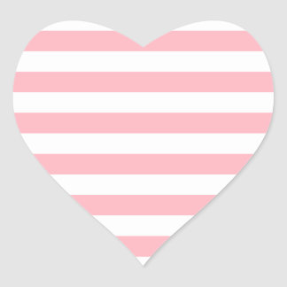 Light Pink Stripes Stickers | Zazzle