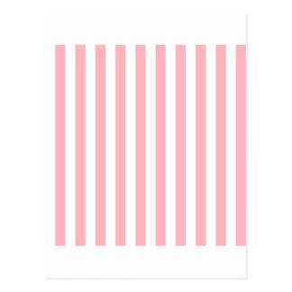 White And Light Pink Stripes Postcards | Zazzle