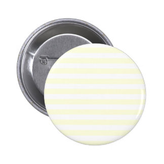 Broad Stripes - White and Light Yellow Pinback Button