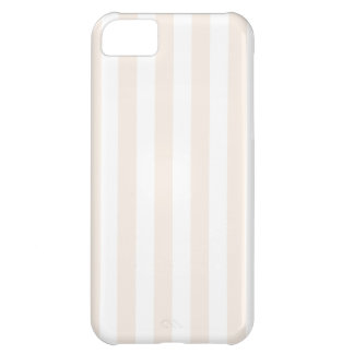 Broad Stripes - White and Linen iPhone 5C Cover