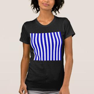 Broad Stripes - White and Medium Blue T Shirt