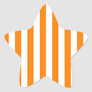 Broad Stripes - White and Orange Star Sticker