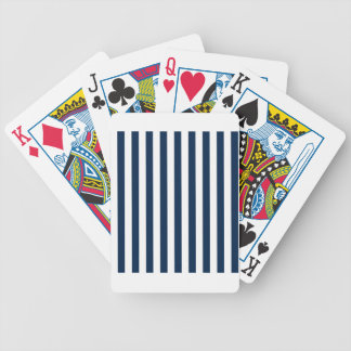 Broad Stripes - White and Oxford Blue Bicycle Card Deck
