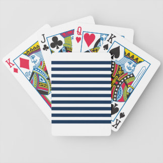 Broad Stripes - White and Oxford Blue Deck Of Cards