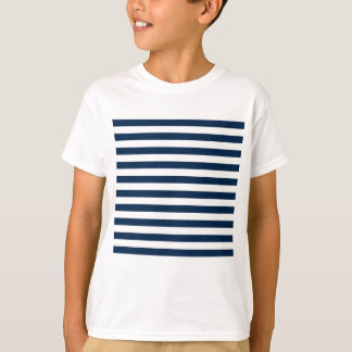 Broad Stripes - White and Oxford Blue T-Shirt