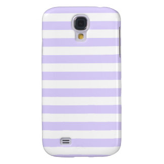 Broad Stripes - White and Pale Lavender Galaxy S4 Cover