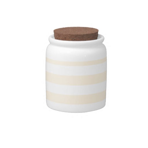 Broad Stripes - White and Peach Candy Dish