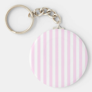 Broad Stripes - White and Pink Lace Keychain