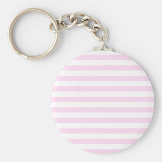 Broad Stripes - White and Pink Lace Keychains
