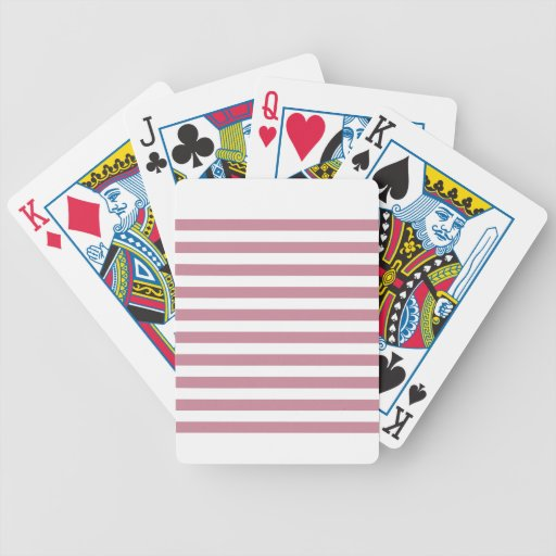Broad Stripes - White and Puce Card Decks
