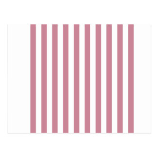 Broad Stripes - White and Puce Postcard