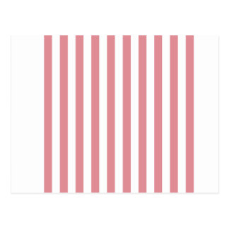 Broad Stripes - White and Ruddy Pink Postcard