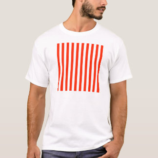 Broad Stripes - White and Scarlet T-Shirt