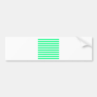 Broad Stripes - White and Spring Green Bumper Stickers
